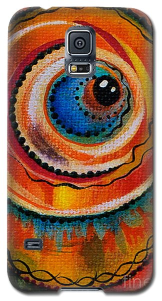 Galaxy S5 Case featuring the painting Intuitive Spirit Eye by Deborha Kerr