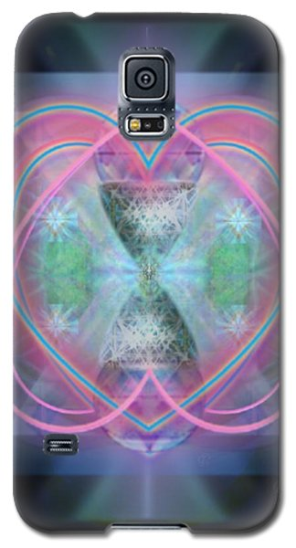Galaxy S5 Case featuring the digital art Intwined Hearts Chalice Enveloping Orbs Vortex Fired by Christopher Pringer