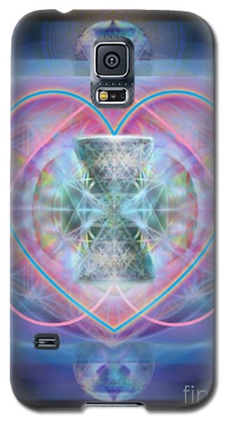 Galaxy S5 Case featuring the digital art Intwined Hearts Chalice Wings Of Vortexes Radiant Deep Synthesis by Christopher Pringer