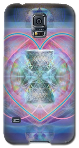 Intwined Hearts Chalice Wings Of Vortexes Radiant Deep Synthesis Galaxy S5 Case by Christopher Pringer