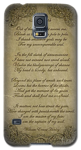 Invictus By William Ernest Henley Galaxy S5 Case by Olga Hamilton