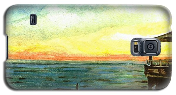 Galaxy S5 Case featuring the painting Ionian Sea Zanti Greek Island by Teresa White