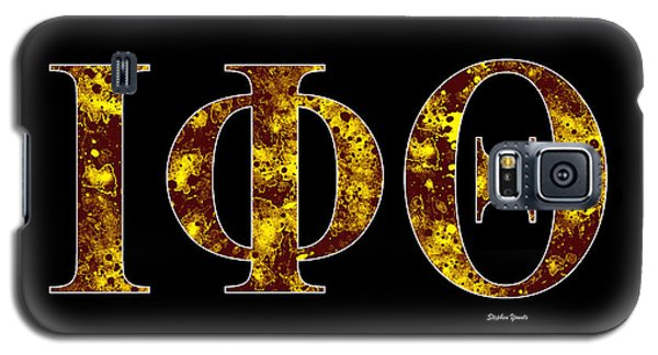 Galaxy S5 Case featuring the digital art Iota Phi Theta - Black by Stephen Younts