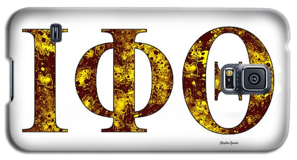 Galaxy S5 Case featuring the digital art Iota Phi Theta - White by Stephen Younts