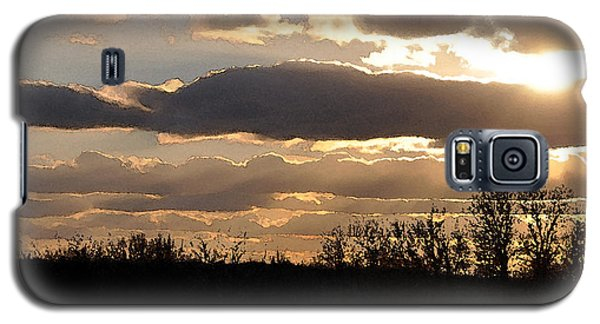 Galaxy S5 Case featuring the digital art Iowa Sunset by Kirt Tisdale