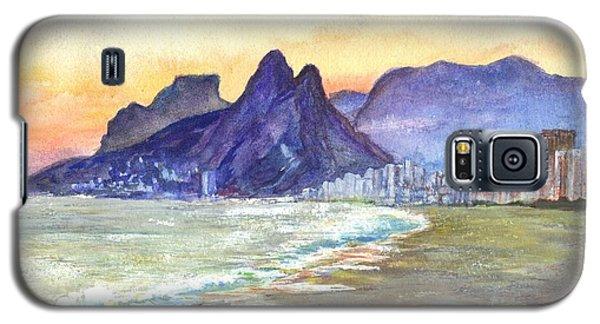 Sugarloaf Mountain And Ipanema Beach At Sunset Rio Dejaneiro  Brazil Galaxy S5 Case by Carol Wisniewski