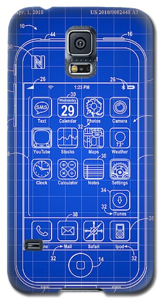 iPhone Patent - Blue Galaxy S5 Case by Stephen Younts