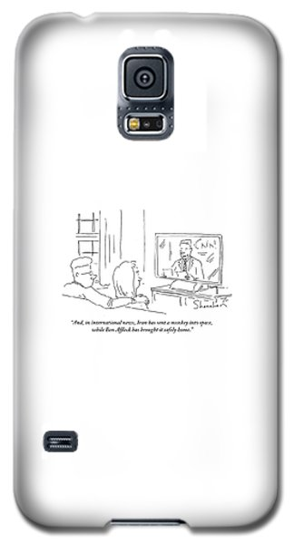 Ben Affleck Galaxy S5 Case - Iran Has Sent A Monkey Into Space by Danny Shanahan