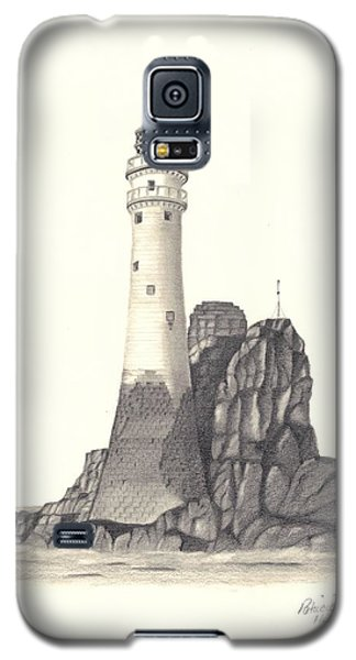 Galaxy S5 Case featuring the drawing Ireland Lighthouse by Patricia Hiltz