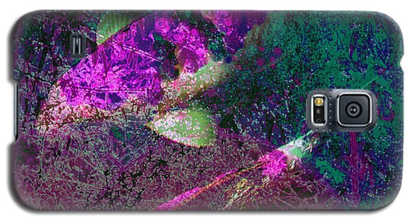 Galaxy S5 Case featuring the photograph Iridescent Coy by Irma BACKELANT GALLERIES