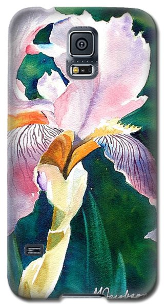 Galaxy S5 Case featuring the painting Iris 1 by Marilyn Jacobson
