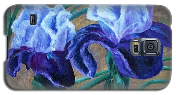 Galaxy S5 Case featuring the painting Iris by Debbie Baker
