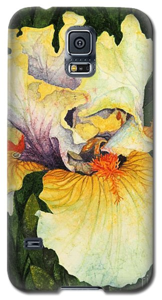 Galaxy S5 Case featuring the painting Iris Elegance by Barbara Jewell