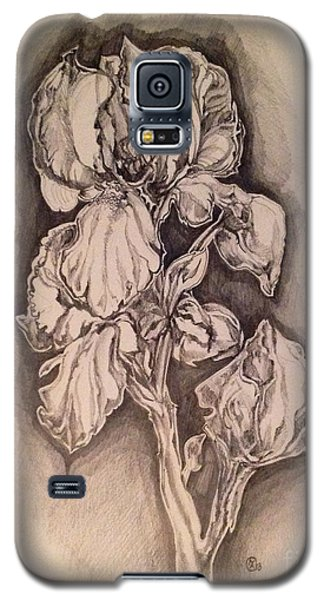 Galaxy S5 Case featuring the drawing Iris by Iya Carson