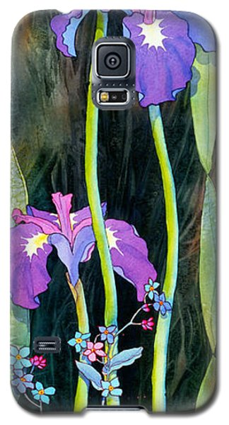 Galaxy S5 Case featuring the painting Iris Tall And Slim by Teresa Ascone