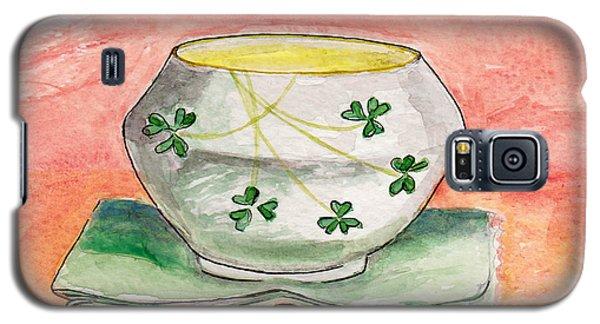 Irish Belleek And Linen Galaxy S5 Case by Julie Maas