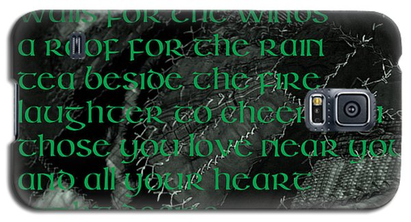 Irish Blessing Stitched In Time Galaxy S5 Case
