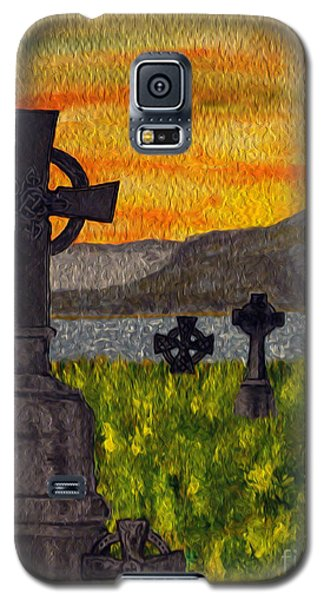 Irish Cemetery-painting Galaxy S5 Case by Megan Dirsa-DuBois