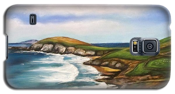 Galaxy S5 Case featuring the painting Dingle Peninsula Irish Coastline by Melinda Saminski
