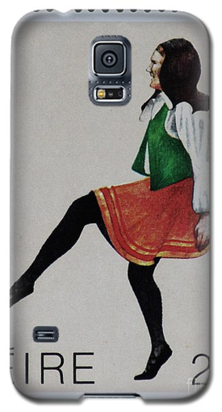 Irish Music And Dance Postage Stamp Print Galaxy S5 Case by Andy Prendy
