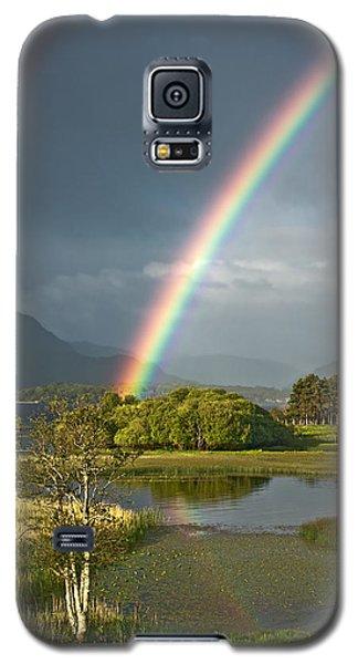 Galaxy S5 Case featuring the photograph Irish Rainbow by Jane McIlroy