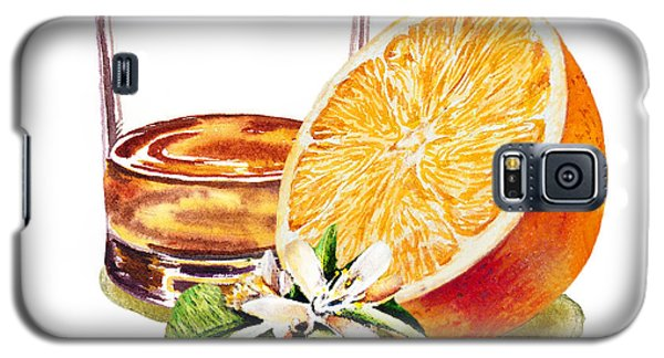 Galaxy S5 Case featuring the painting Irish Whiskey And Orange by Irina Sztukowski