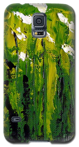 Galaxy S5 Case featuring the painting Iris's by Fred Wilson