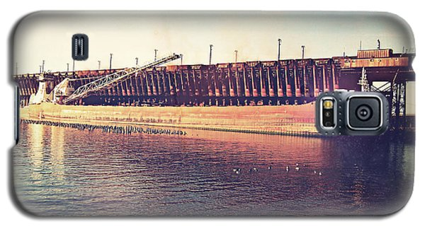 Iron Ore Freighter In Dock Galaxy S5 Case by Phil Perkins