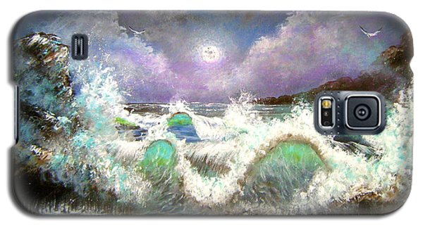 Galaxy S5 Case featuring the painting Irresistible Force  by Patrice Torrillo