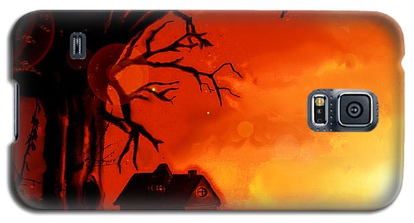 Galaxy S5 Case featuring the painting Is This Scary? by Persephone Artworks