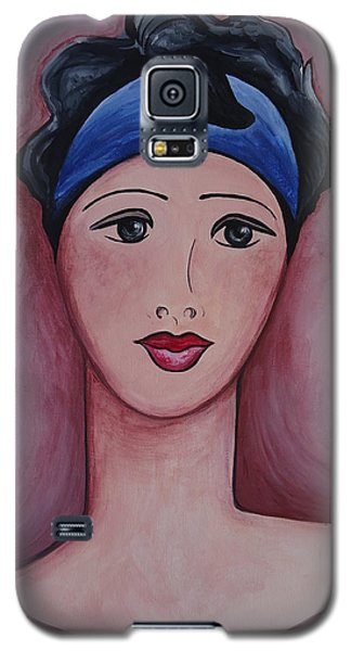 Galaxy S5 Case featuring the painting Isabella by Leslie Manley