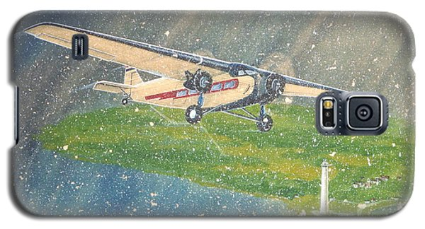 Island Airlines Ford Trimotor Over Put-in-bay In The Winter Galaxy S5 Case
