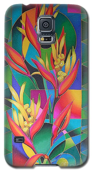 Island Flowers - Heliconia Galaxy S5 Case