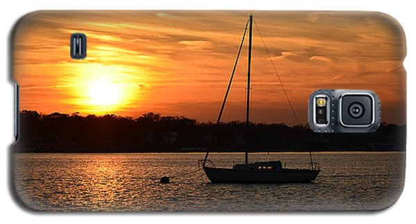 Galaxy S5 Case featuring the photograph Island Heights Sunset by Brian Hughes