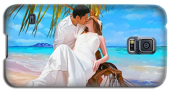 Galaxy S5 Case featuring the painting Island Honeymoon by Tim Gilliland
