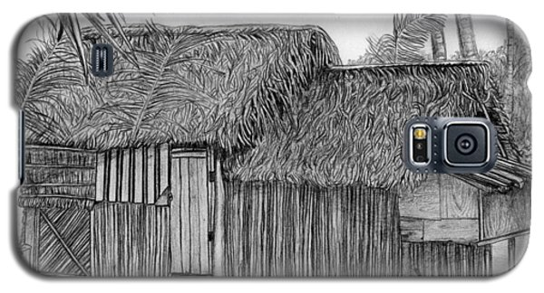 Galaxy S5 Case featuring the drawing Island House 1 by Lew Davis