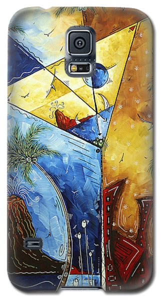 Island Martini  Original Madart Painting Galaxy S5 Case by Megan Duncanson