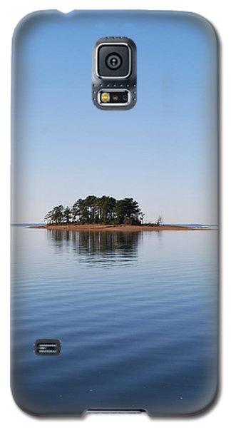 Island On Lake Sam Rayburn Galaxy S5 Case by Max Mullins