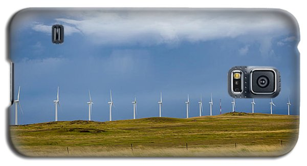 Galaxy S5 Case featuring the photograph Island Turbines by Ed Cilley