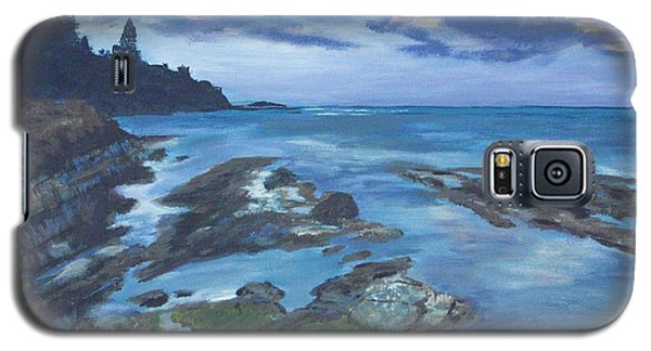 Galaxy S5 Case featuring the painting Isle Coast by Cynthia Morgan