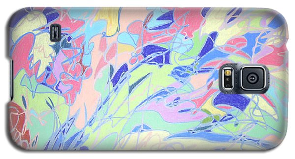 Galaxy S5 Case featuring the painting Israel Synchromy by Esther Newman-Cohen