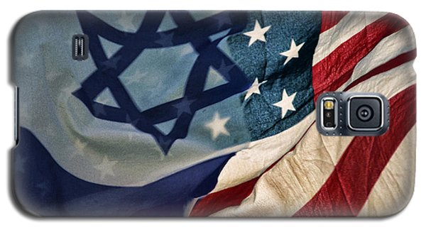 Israeli American Flags Galaxy S5 Case by Ken Smith