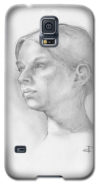 Galaxy S5 Case featuring the drawing Issabell by Paul Davenport
