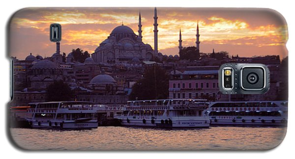 Istanbul Port Sunset Galaxy S5 Case by Haleh Mahbod