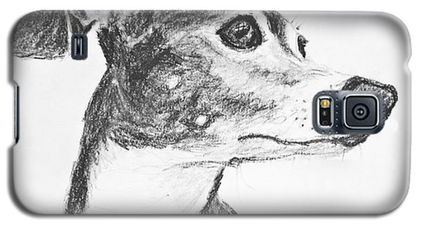Italian Greyhound Sketch In Profile Galaxy S5 Case