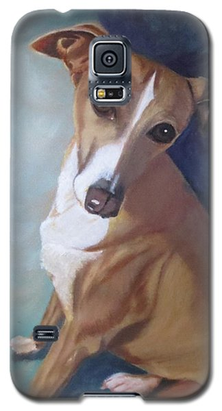Galaxy S5 Case featuring the painting Italian Greyhound by Sharon Schultz
