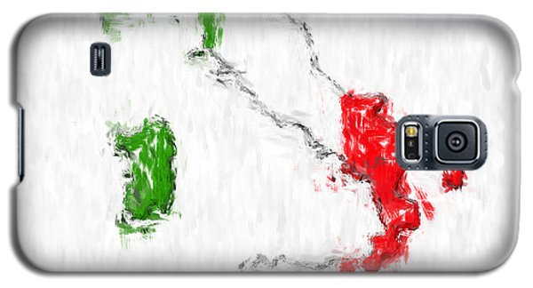 Italy Painted Flag Map Galaxy S5 Case