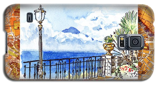 Italy Sketches Sorrento View On Volcano Vesuvius  Galaxy S5 Case