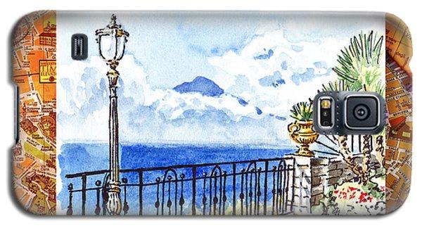 Italy Sketches Sorrento View On Volcano Vesuvius  Galaxy S5 Case