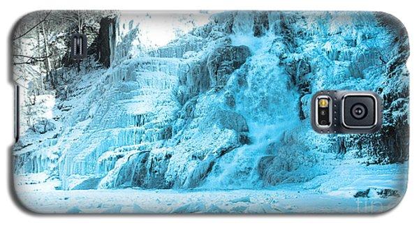 Ithaca Falls In Winter Galaxy S5 Case